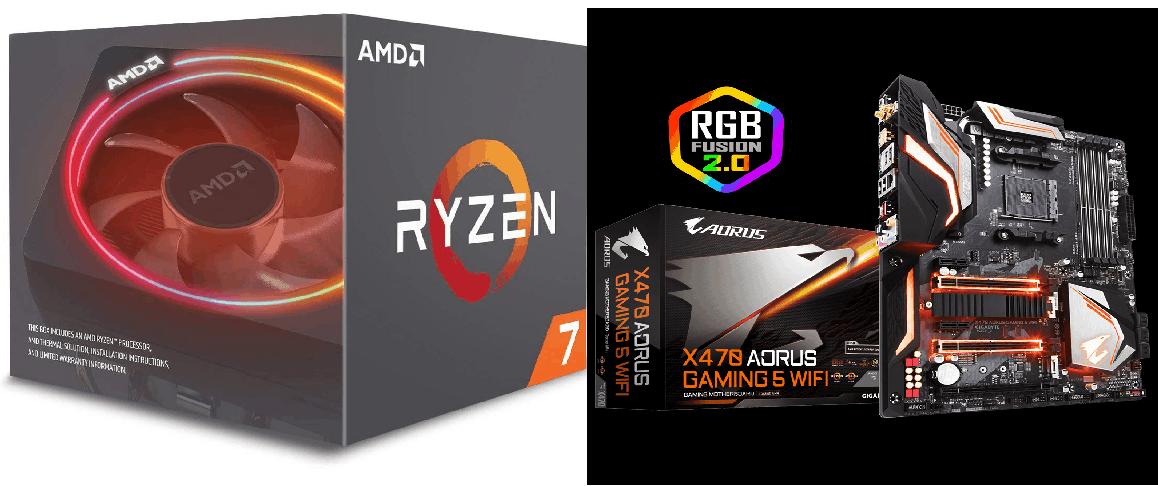 AMD Ryzen 7 2700X and Gigabyte X470 Aorus Gaming 5 Wi-Fi Motherboard